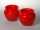 Pair of Loetz or Czech or Bohemian art glass red vases